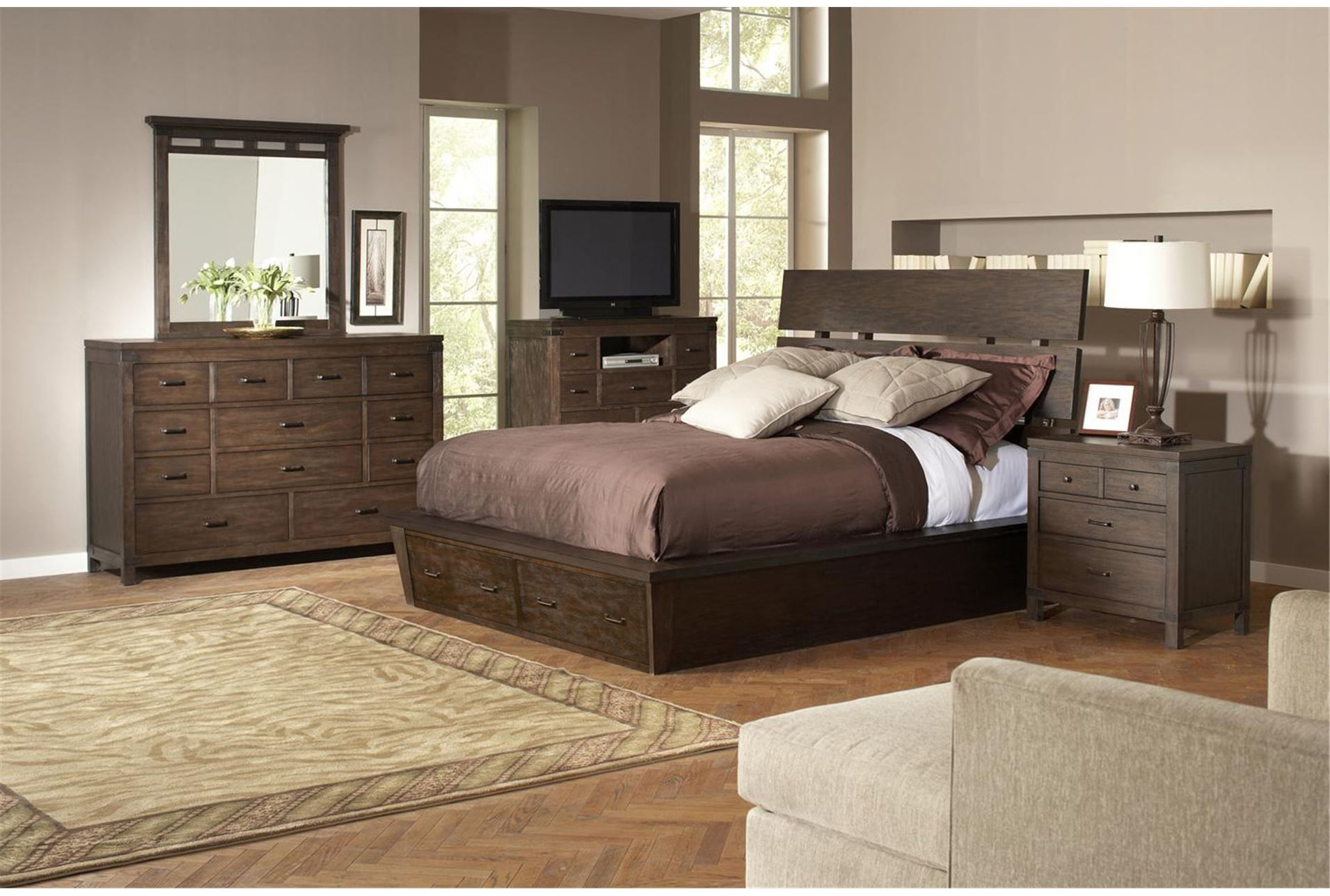 Livingston California King Storage Bed Bedroom Sets