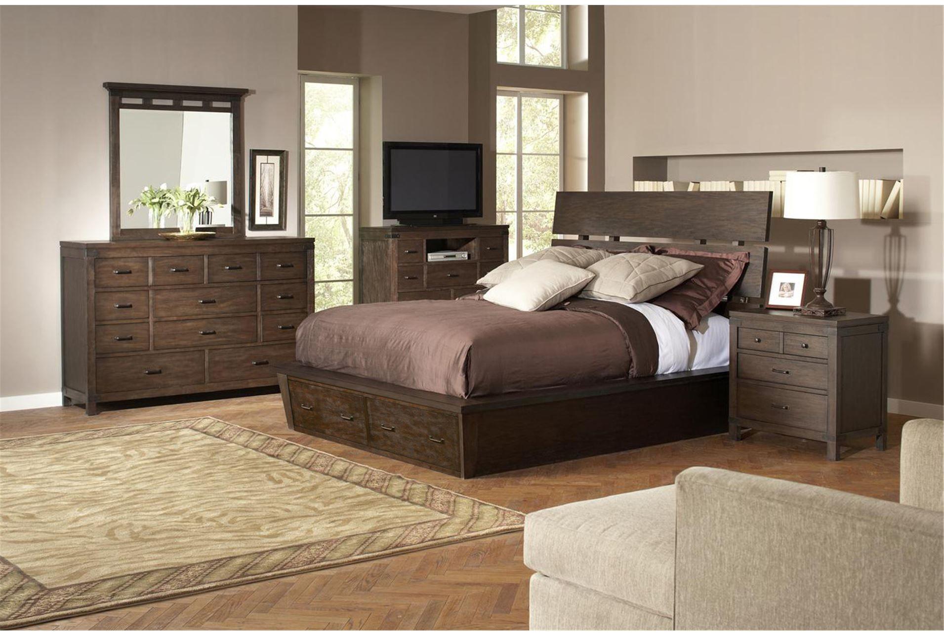 Livingston California King Storage Bed Riverside Furniture
