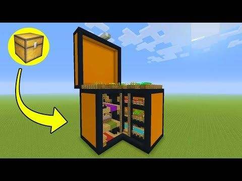 Minecraft Tutorial How To Make A Chest House Quot Storage House Quot Youtube Minecraft Tutorial Minecraft Architecture Minecraft Houses
