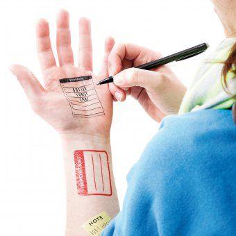 #design3000 Style-Tattoos Note It – temporäre Tattoos Notizen.