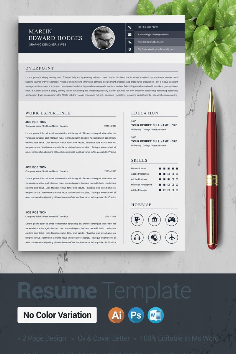 Edward Resume Template 86609, Ad Resume Template