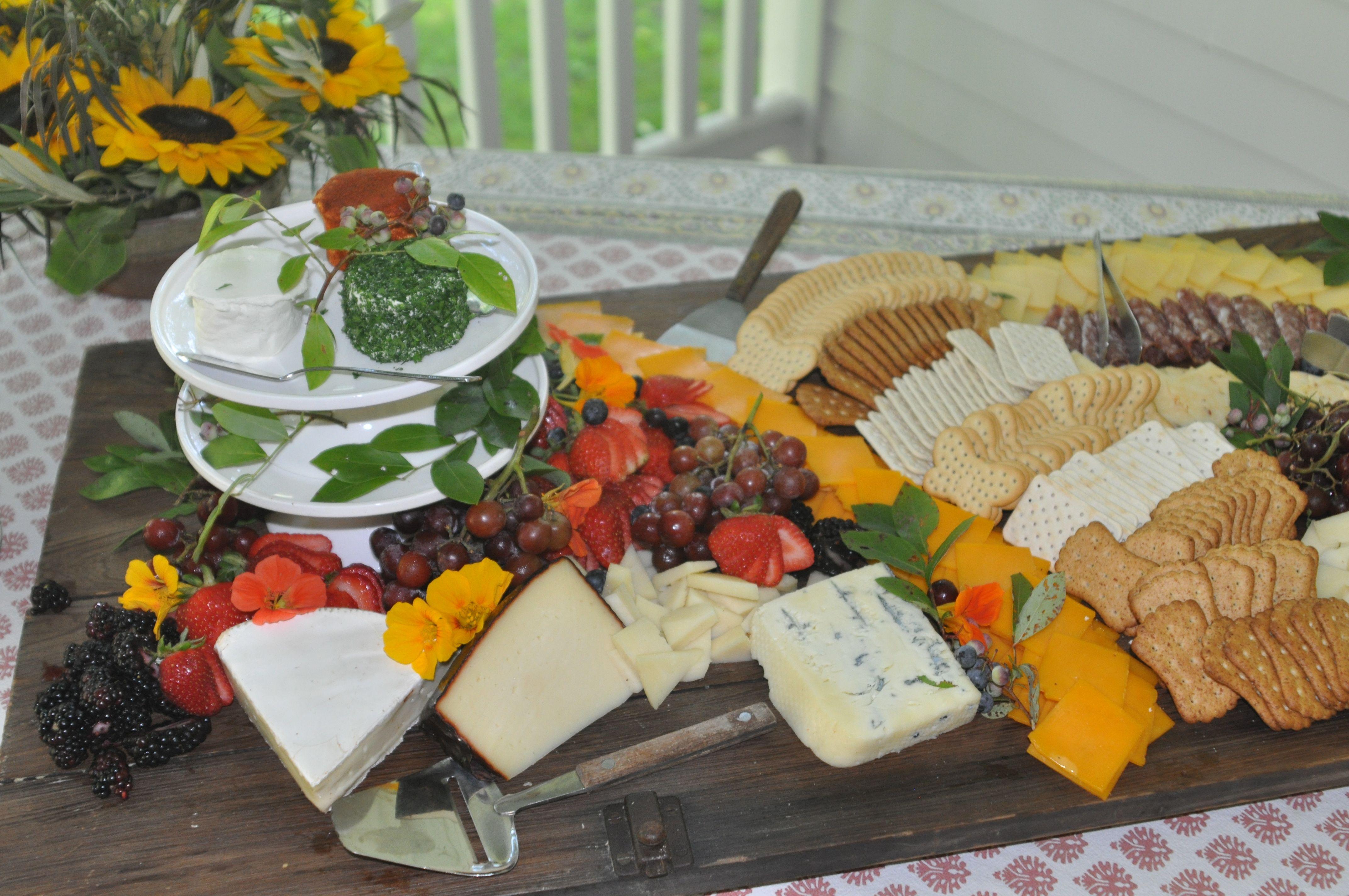Cheese Platter from the Inn's kitchen Beaverkill Valley