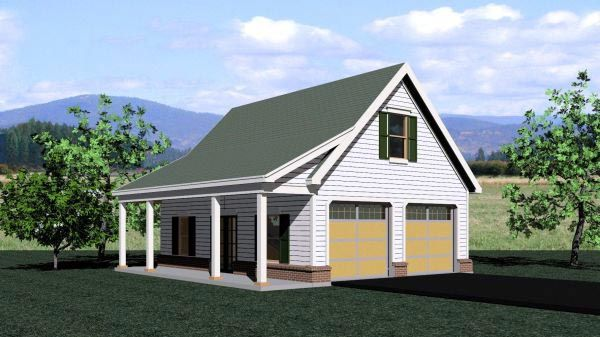 Traditional Style 2 Car Garage Plan Number 47070 Garage Loft Garage Shop Plans Garage Plans With Loft