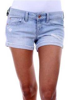 eff3cc1e89c Sneak Peek Light Wash Roll Cuff Shorts for Women
