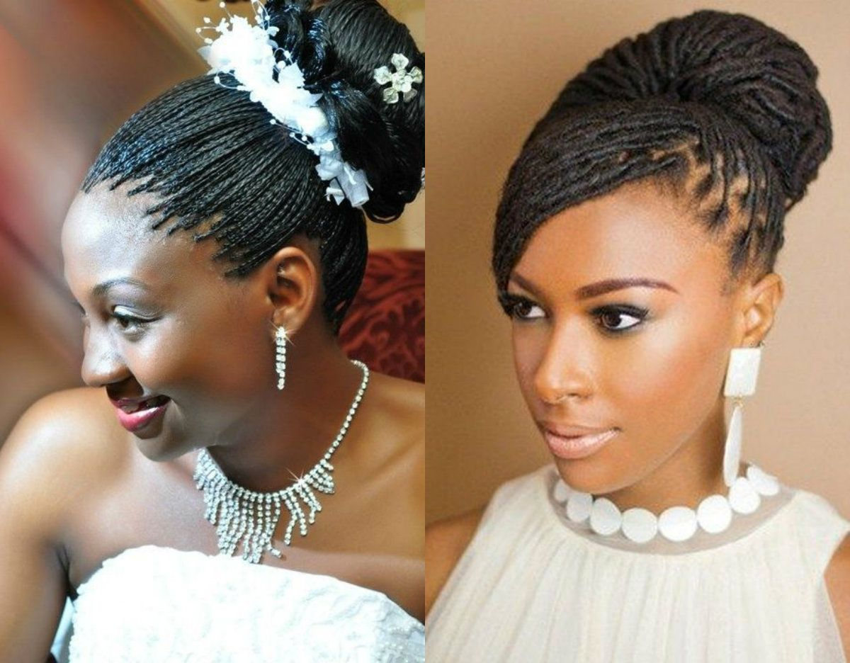 spring season box braids wedding hairstyles 2017 | high bun
