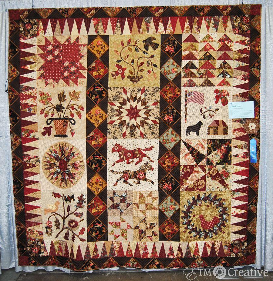 Spirit of Sacagawea quilt by Julie Prose, Des Moines Area Quilt Guild, 2013 show award winner
