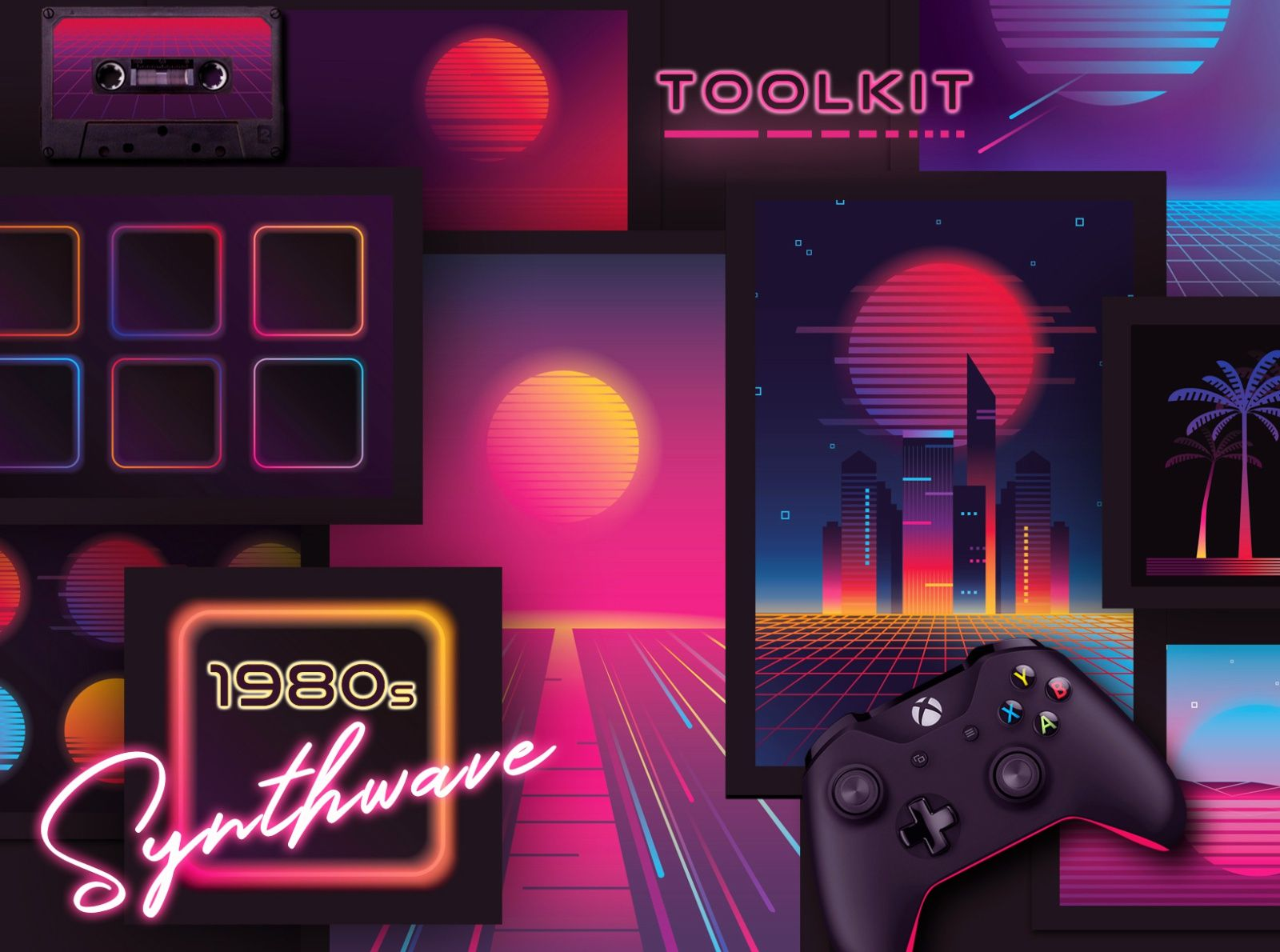 1980s Synthwave Toolkit by Diana Hlevnjak in 2020
