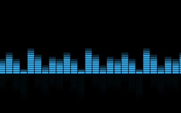 Blue Music Equalizer HD Wallpaper