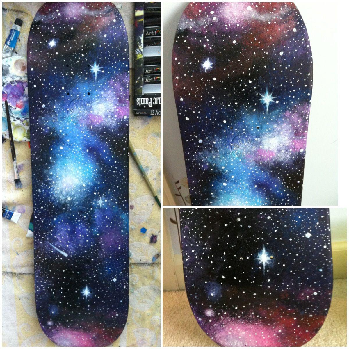 Galaxy Skateboard, Kristen Hamby.  My Art  Skateboard