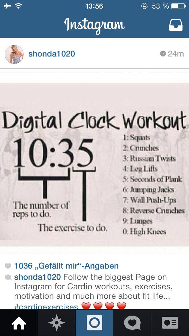 Digital Clock Workout Fitness Motivation Motivationsbilder