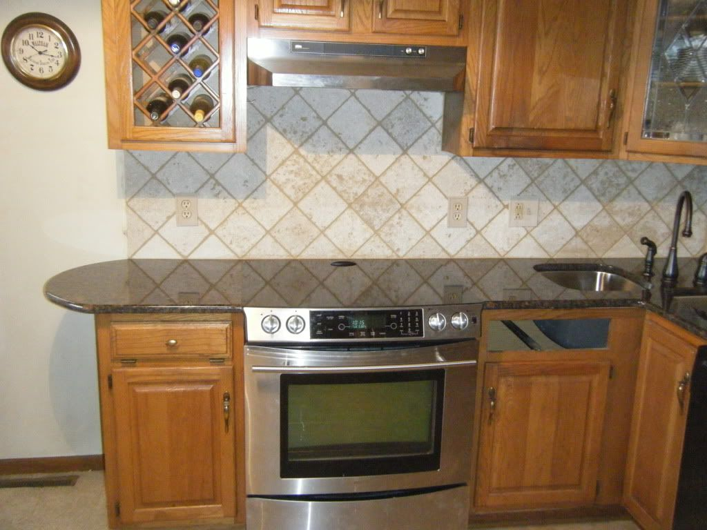 Wallpaper Backsplash Ideas Part - 16: Tile Backsplashes For Kitchens | ... Wallpaper Backsplash Tile Ideas  1024x768 Travertine Tile With