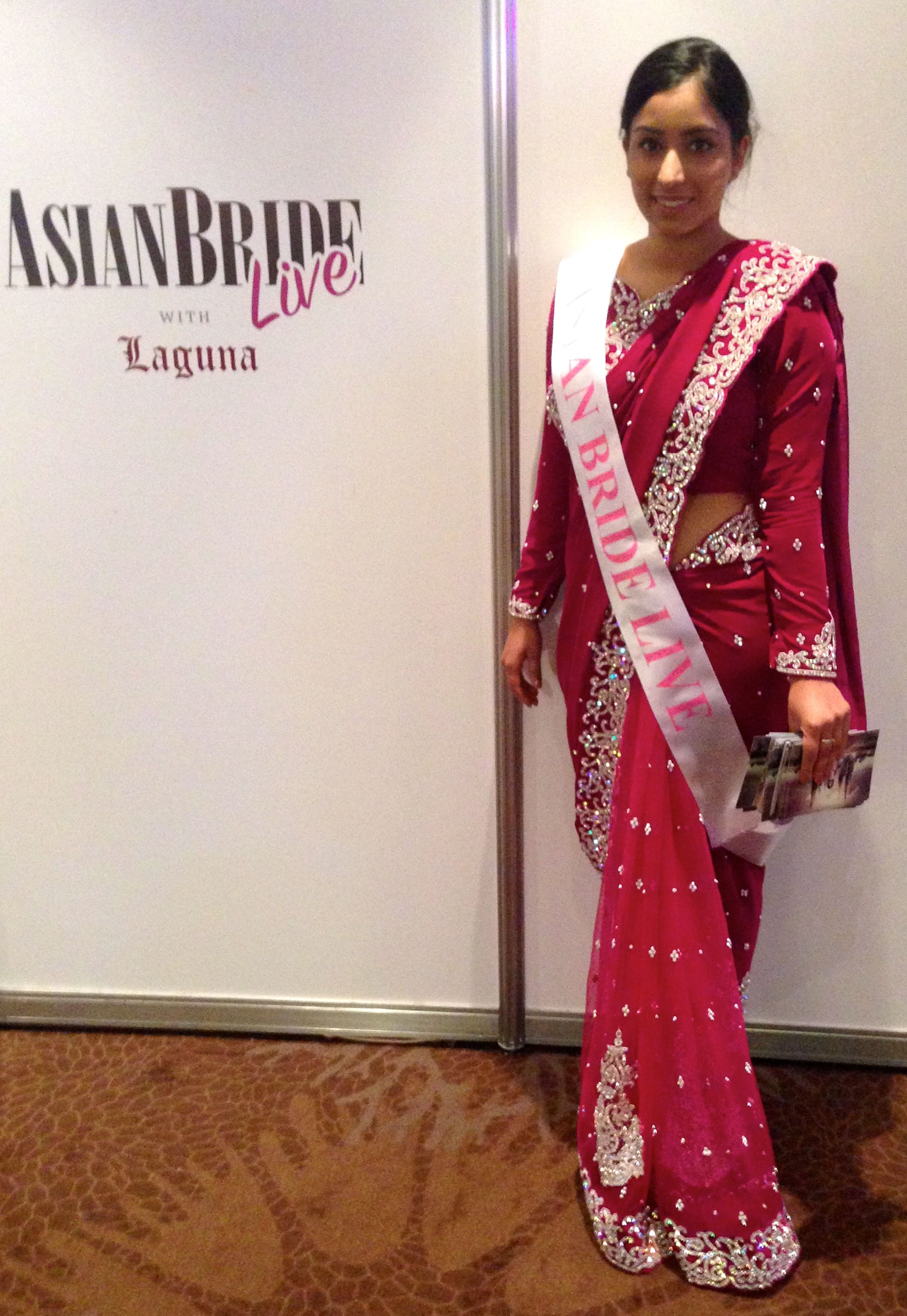 Asian Bride Model at Asian Bride Live Wedding Exhibition London.