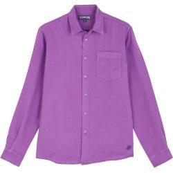 Photo of Herren Ready to Wear – Solid Hemd aus Leinen für Herren – Hemd – Caroubis – Violett – M – Vilebrequi