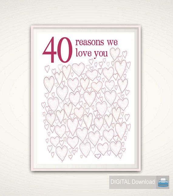 40th Birthday Gifts For Woman Prints