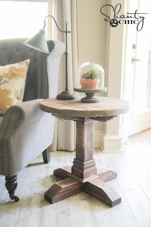 DIY Round Side Table | Diy living room decor, Diy end ...