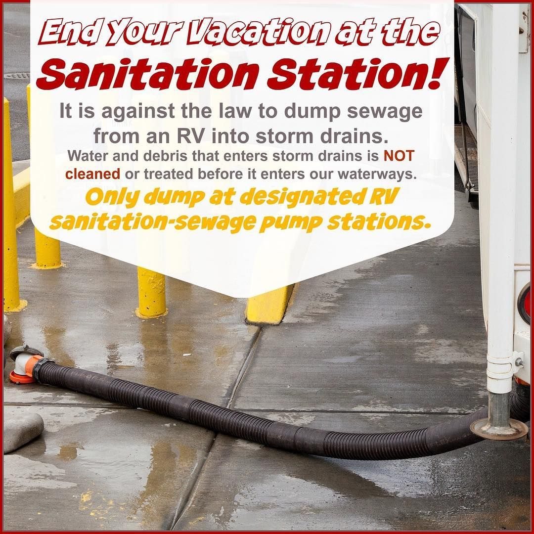 National Water Quality Month RV Sanitation Station We want