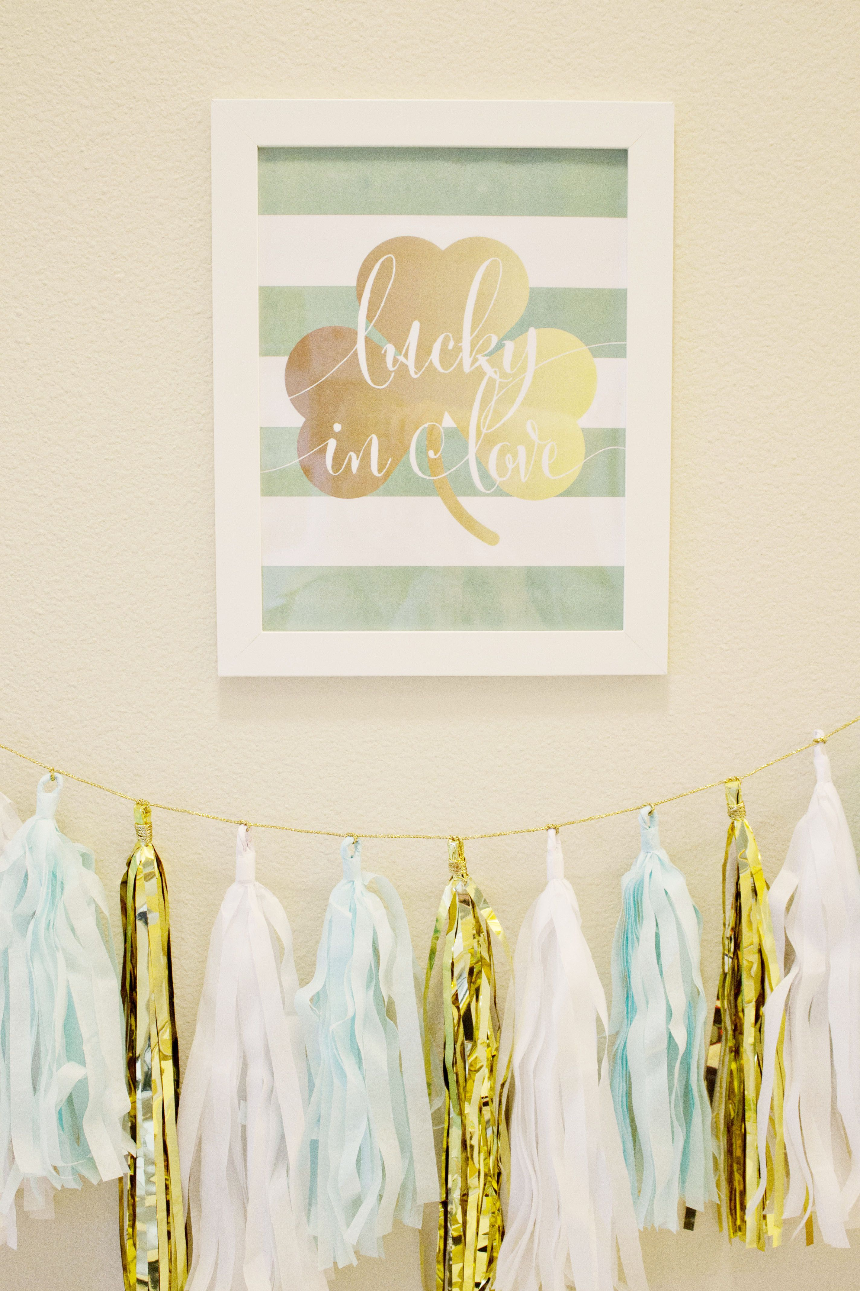 Lucky In Love // March or St. Patrick\'s Day bridal shower or ...