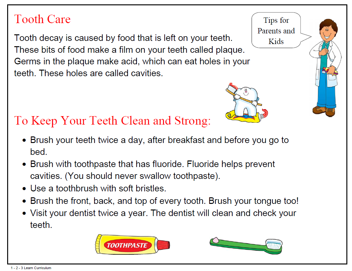 Free Dental Health Flyer Print Out During Your Dental