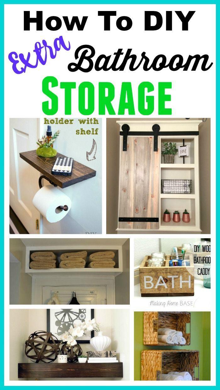 Space Saving Diy Bathroom Storage Ideas Diy Bathroom Storage Diy Bathroom Clever Bathroom Storage