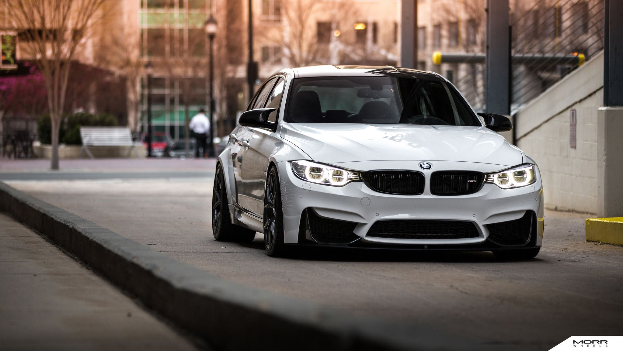 Alpine white bmw f80 m3 on morr wheels