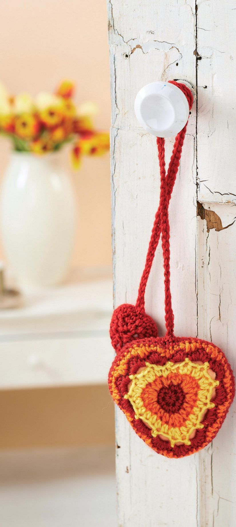 Free Pattern Crochet Heart Decoration Valentines Day Knitting