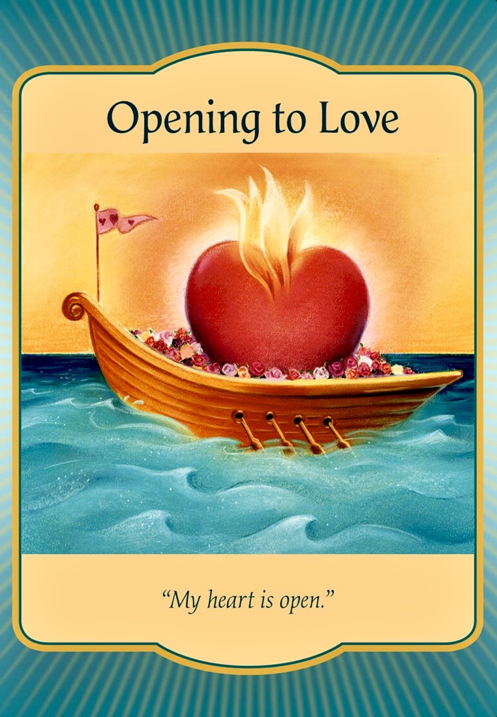 Card Meaning Love Is On Its Way The More You Open To Love The More Its Sweet Nectar Can Surge Through Love You Forever Book Oracle Cards Angel Oracle Cards