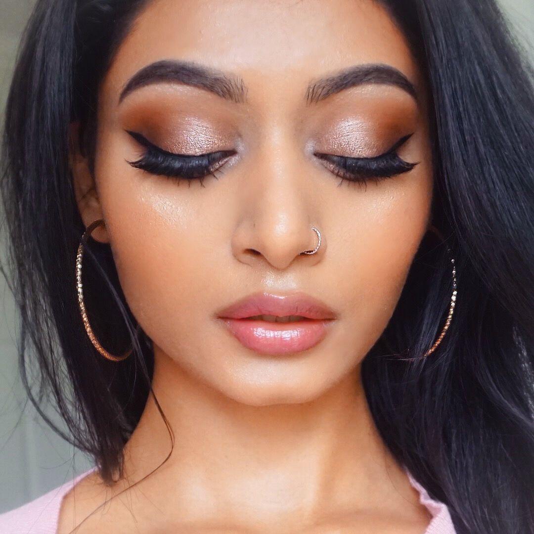 Natural glowy fall makeup look Pinterest lavishkrish