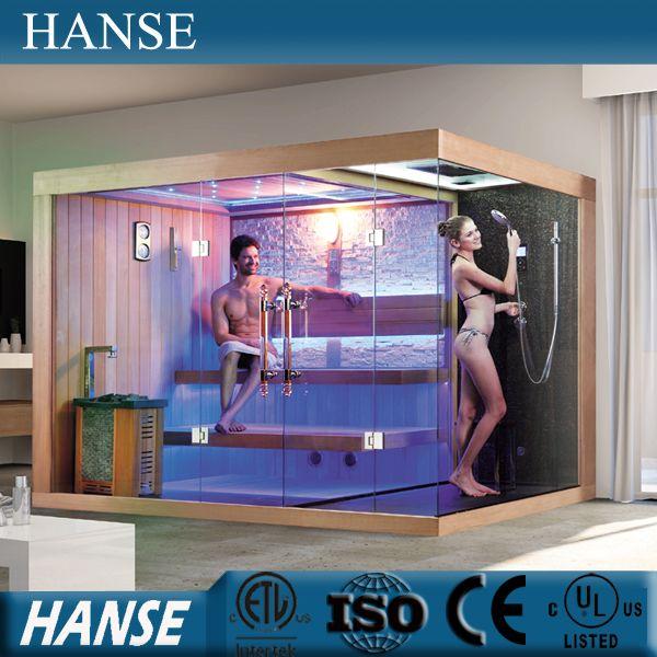 Source HS-SR1388 sauna with steam shower/ family sauna bath/ wood sauna room on m.alibaba.com