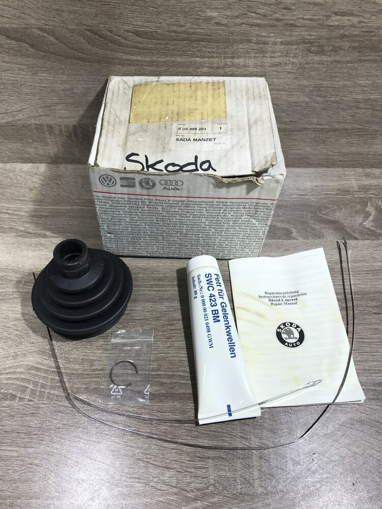 New Genuine OE SKODA WHEEL SIDE CV JOINT BOOT KIT
