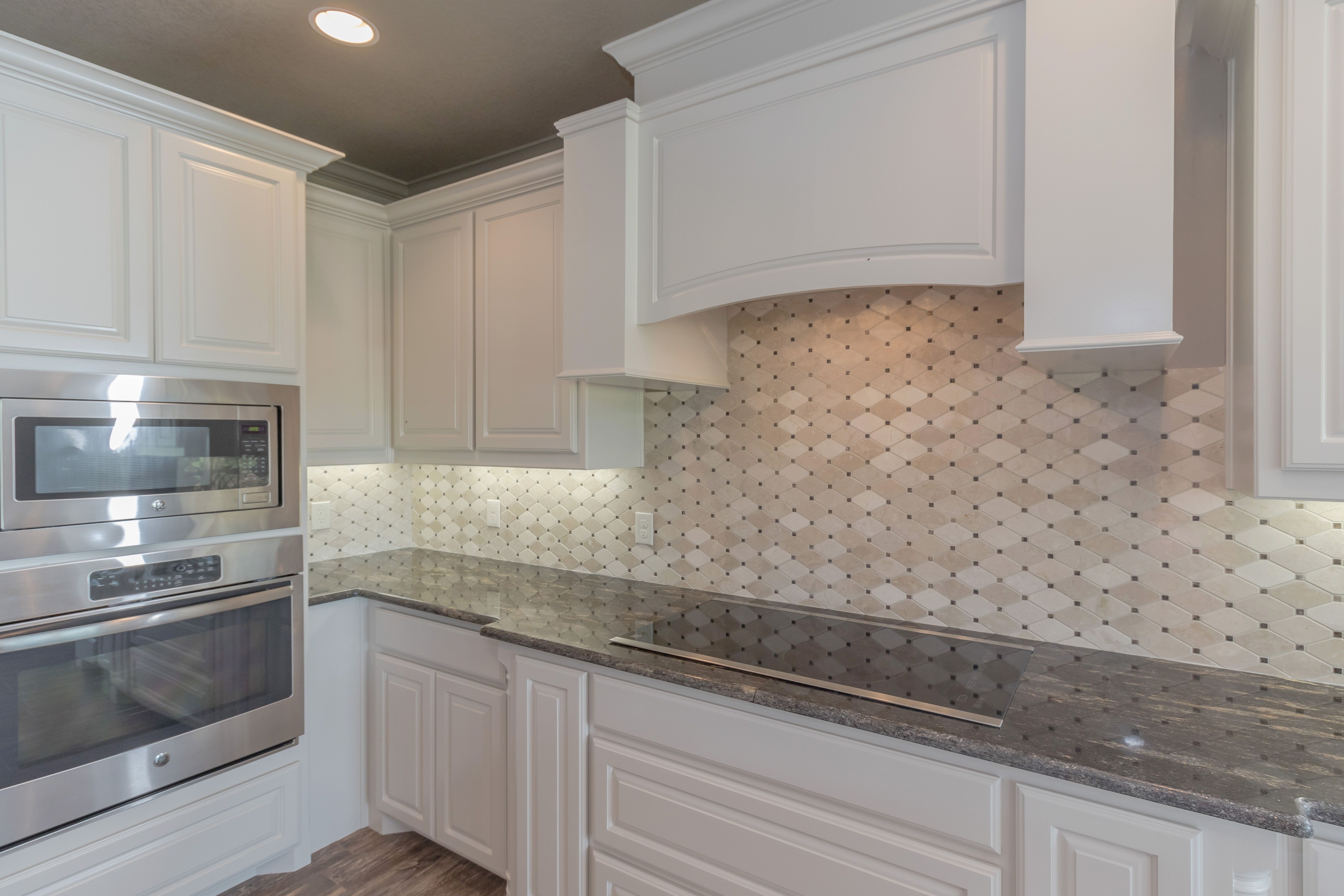 Intricate Kitchen Back Splash Design By Doug Parr Custom Homes Elegant Kitchens Kitchen Backsplash Custom Homes