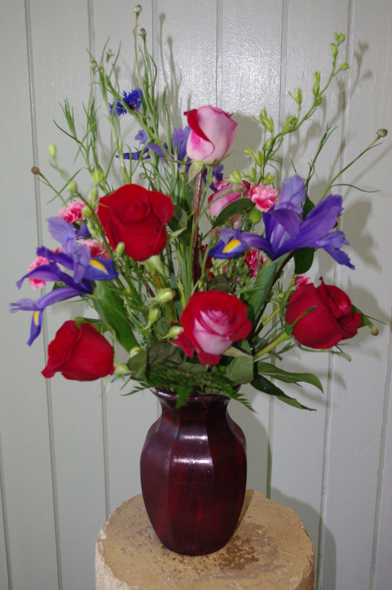 Iris rose floral arrangment good for valentines anytime sweetheart iris rose floral arrangment good for valentines anytime sweetheart just because birthday flowers izmirmasajfo