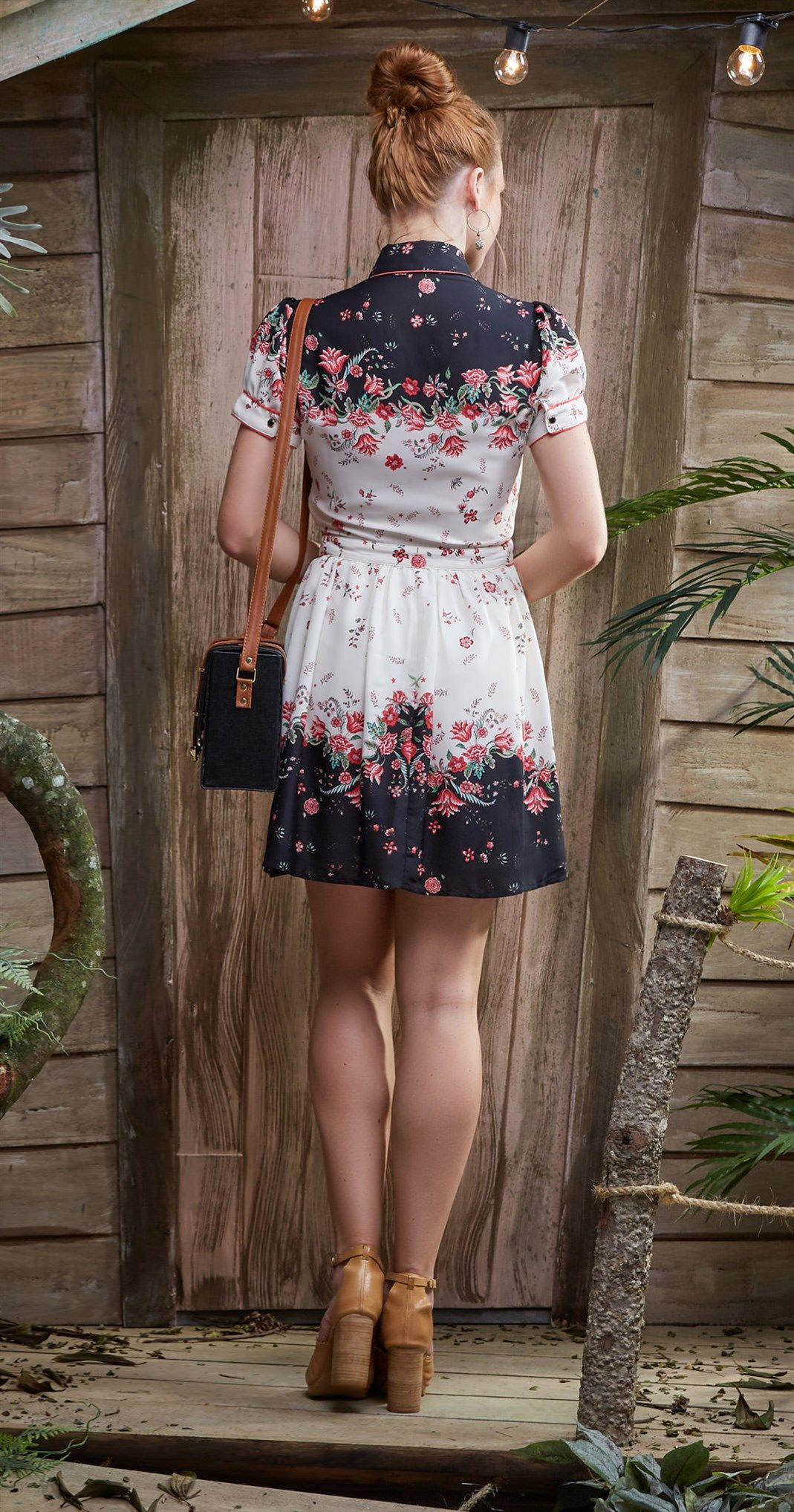 Vestido antix mini flores