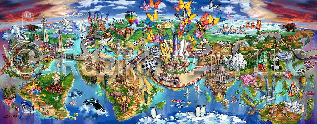 Map Art of Vodafone Qatar Global Village