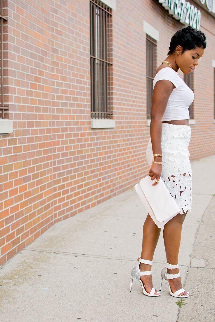 White crocheted skirt. 25 Wonderful Ways to Wear (All) White Fashion ... 6f5fb5118
