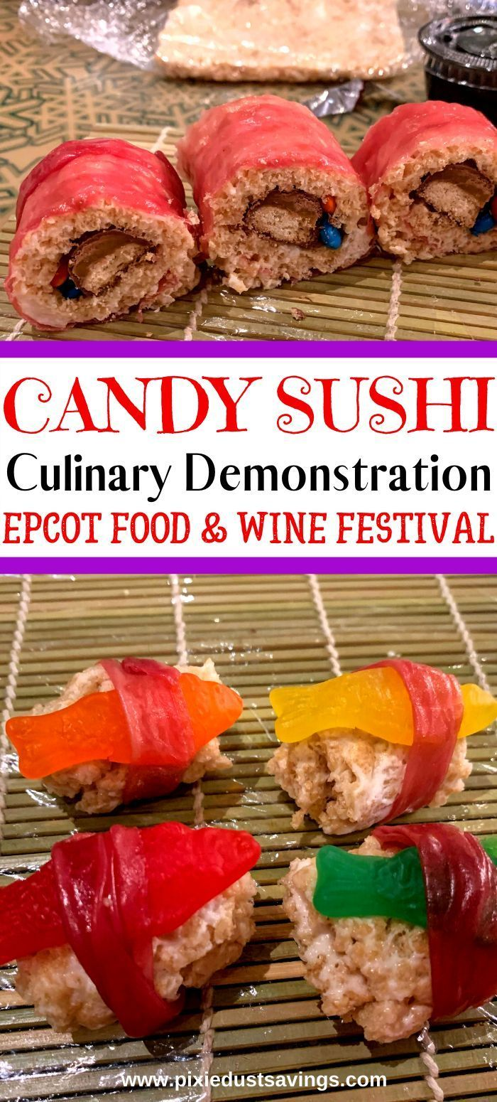 Review: Candy Sushi Culinary Workshop at Epcot #candysushi Review of the Candy Sushi Culinary Workshop at Epcot's International Food & Wine Festival.Cost, what's included, and more.  #epcot #epcotfoodandwine #wdw #candysushi #Disneyworld #candysushi