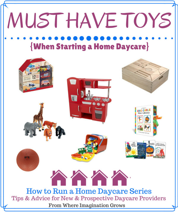 Must Have Toys When Starting a Home Daycare | Toy, Daycare ideas and ...