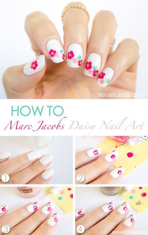 15 tutoriales f ciles de decoraci n de u as con flores u as pinterest decoraci n de unas - Tutoriales de decoracion ...