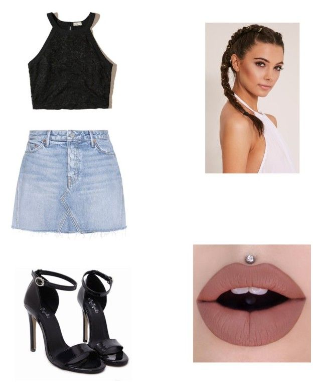"""""""Untitled #470"""" by hunnybun15-1 ❤ liked on Polyvore featuring GRLFRND and Hollister Co."""