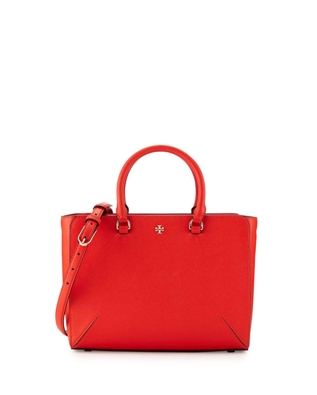 3e08f14e365d Tory Burch Robinson Small Zip Tote Bag