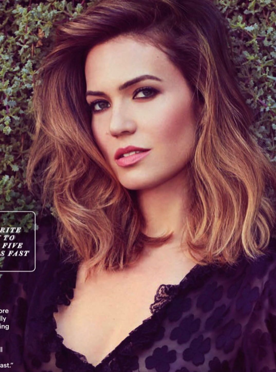 Mandy moore short hair with ombre hair color hair pinterest