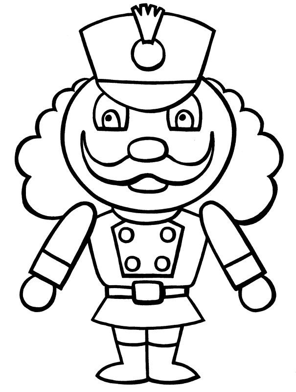 Nutcracker Coloring Page Free Christmas Coloring Pages