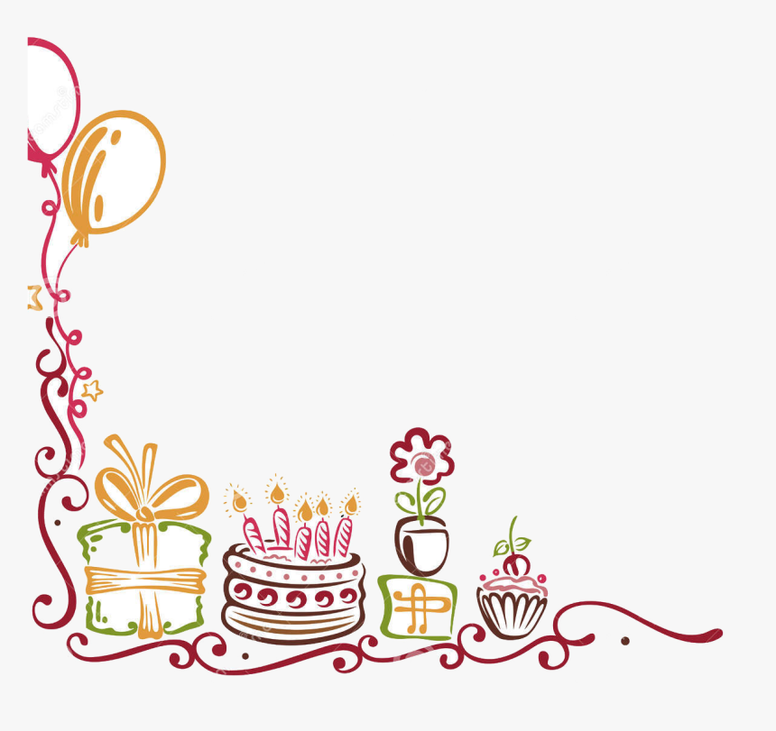 Transparent Balloon Borders Clipart Happy Birthday Border Png Png Download Is Free Transparent Png Happy Birthday Frame Birthday Clipart Free Birthday Stuff