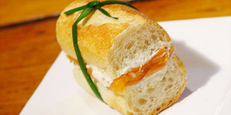 Photo of Smoked Salmon and Caper Cream Cheese Tea Sandwiches Recipes | Food Network Canada