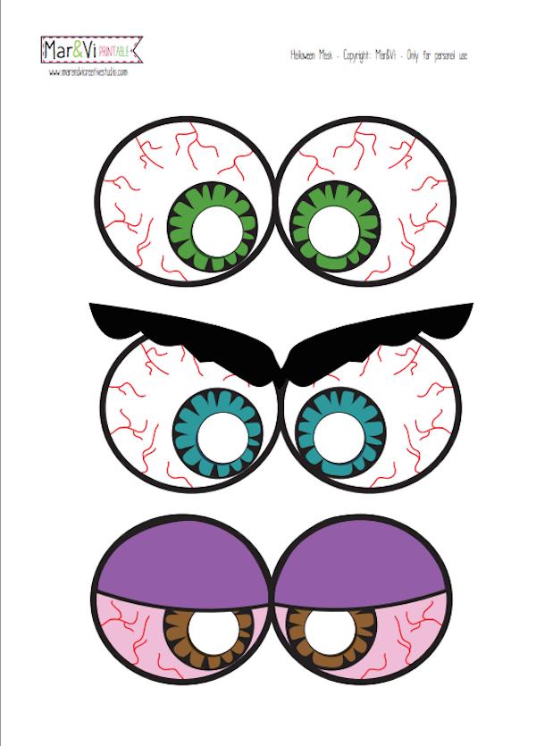 Mascaras De Halloween Para Descargar E Imprimir Gratis Mascaras