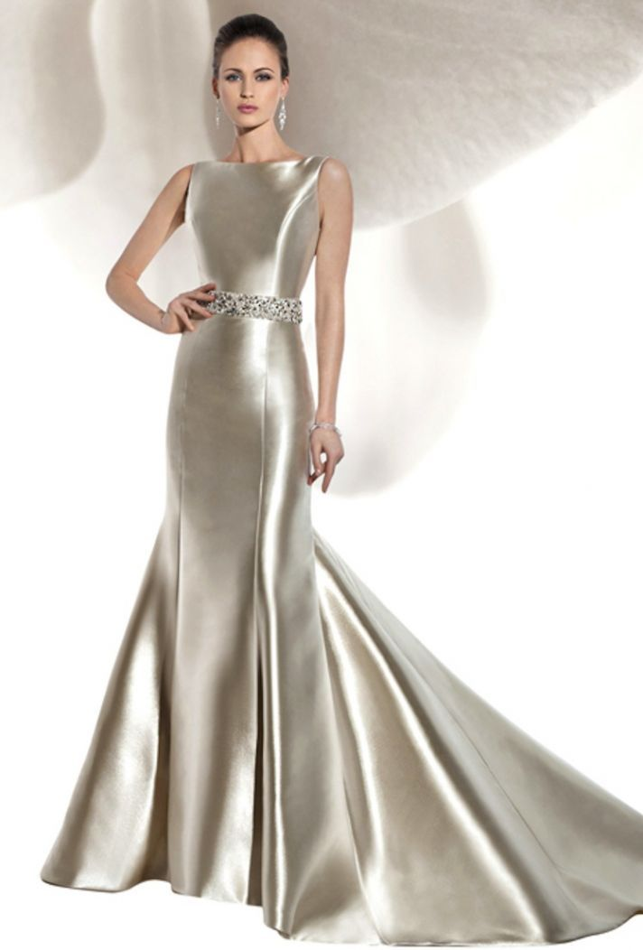 Silver Satin Gowns