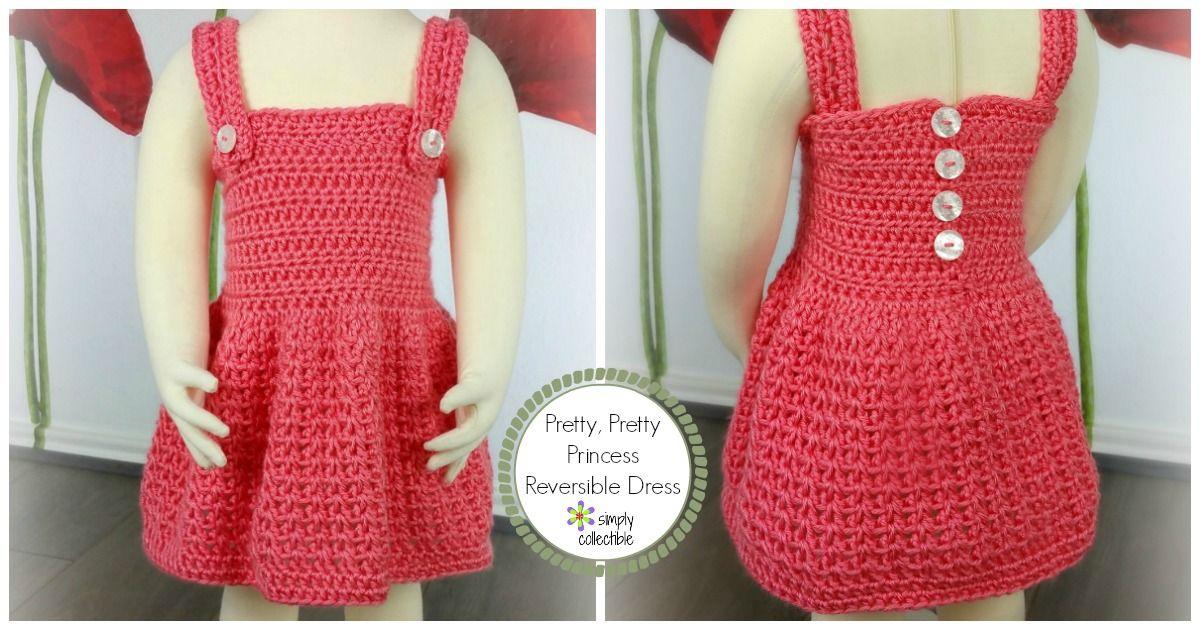c3e7e8c84 Reversible Crochet Baby Dress Pattern - Pretty