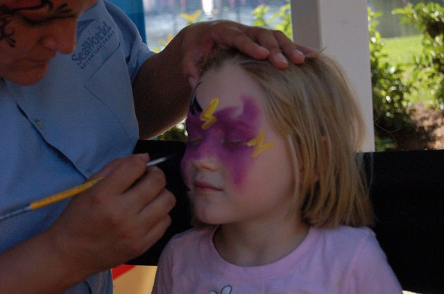 Face painting at seaworld