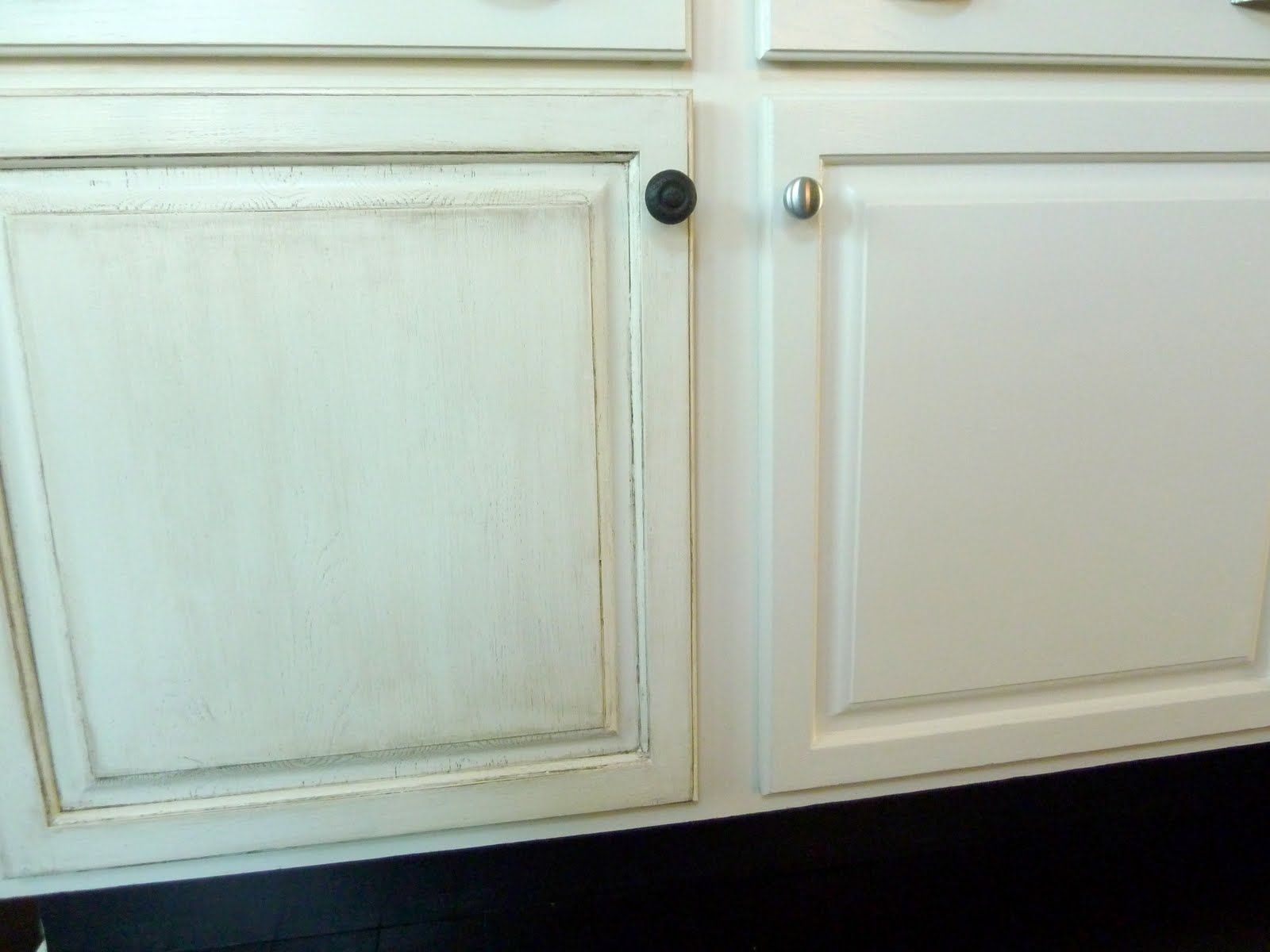 I would never do this to factory finish white cabinetry but on old ...
