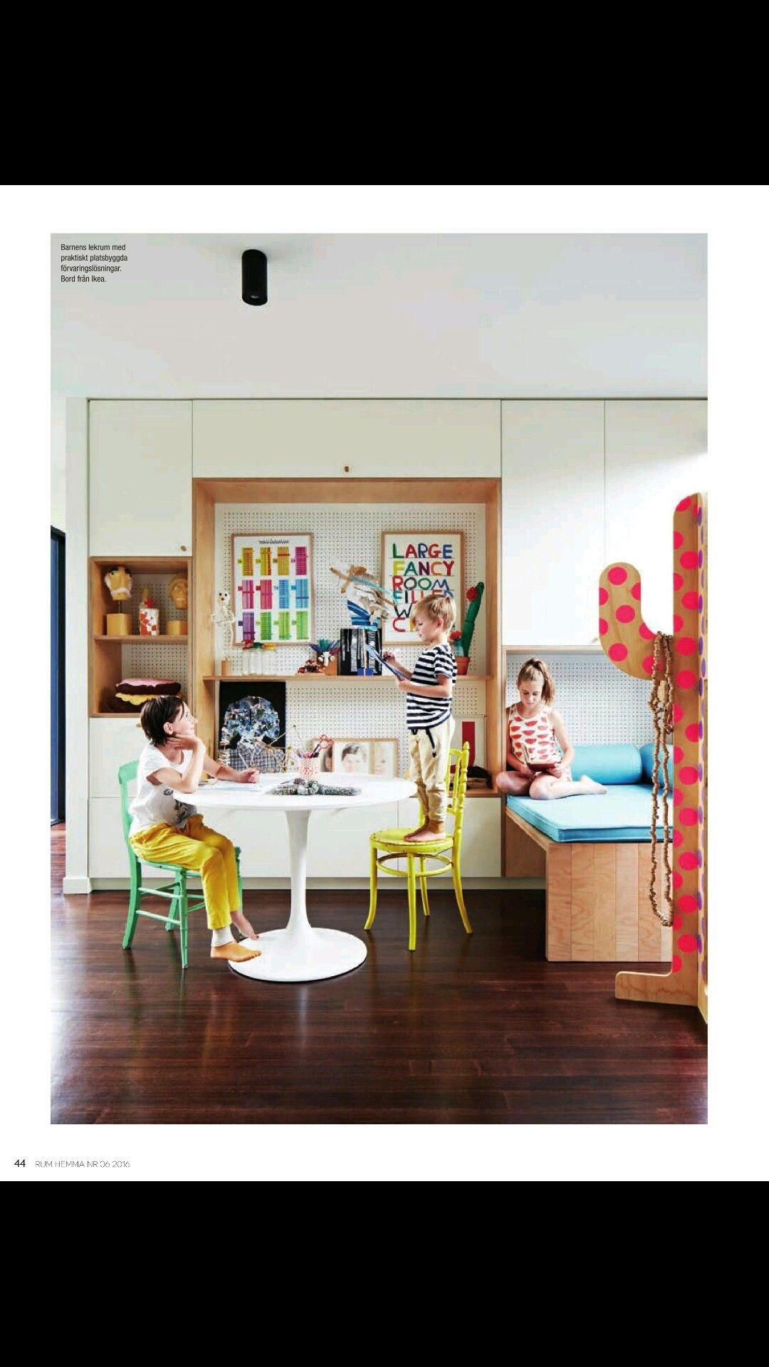 Platsbyggt i barnrummet från tidningen RUM Hemma nr 6 2016