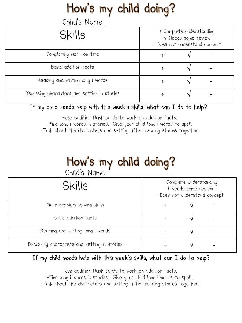 Worksheet First Grade Reading Skills weekly skills checklist very cool the link doesnt work but this fun in first grade